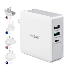 #VHEONET #65W #USBC #Fast #Charger for #MacBook, #iPhone, and #Android Iphone Accessories, Iphone 7 Plus, Laptops, Macbook, Computers, Charger, Android, Usb, Mac Book