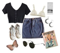 """""""Seventeen #8"""" by hopewillis on Polyvore featuring American Apparel, adidas, Ray-Ban and La Perla"""