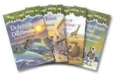 Magic Tree House Boxed Set, Books 9-12: Dolphins at Daybreak, Ghost Town at Sundown, Lions at Lunchtime, and Polar Bears Past Bedtime by Mary Pope Osborne, http://www.amazon.com/dp/0375825533/ref=cm_sw_r_pi_dp_QloGqb0Y6DPAH
