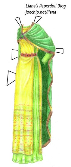 5th Century AD Upper-Class Celtic Woman In Saffron and Green Léinte and Green…