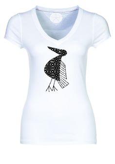 Camiseta blanca mujer estampada. Precio  40.000 pesos colombianos. b184e7927f407