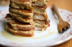Pear & Apple Ring Pancakes (Apfelküchle) with Maple-Cider Syrup // .wandercrush.