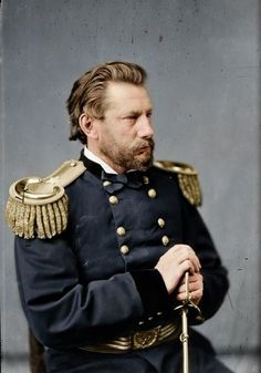 You Think America Is Divided Now? These Colorized Civil War Photos Will Put That In Perspective American Civil War, American History, American Art, Civil War Books, Union Army, Major General, Civil War Photos, United States Army, Us Army