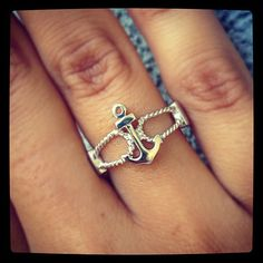 Sterling Silver Anchor Ring   Eve's Addiction®