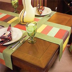 Radiance Table Runner Pattern |  Make  these when we get a new longer rectangular dining room table.  The idea, not necessarily the pattern.