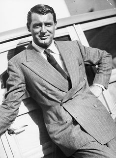 The handsome, Cary Grant. Sharp dresser!