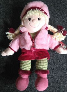 Tesco Christmas Winter Chilly Emily Doll soft cuddly plush toy 14  Tall Tagged*