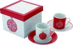 Набор из 4 х кружек для эспрессо в новогодней тематике Набор из 4 х кружек для эспрессо в новогодней тематике