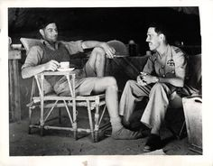 1941- Canadian flying officer of the R.A.F. enjoys a cup of tea following his return to his base after making a forced landing in the Mediterranean. He swam for 8 hours; spent a night on a rocky isle; walked for 50 miles along the North African shore and ate nothing but dates for 60 hours.