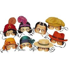 Roaring 20s Costume Party Masks. Maybe have on hand for guests that don't dress up, or added fun for the photobooth.