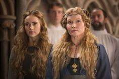 The White Princess - Elizabeth Woodville and Cecily of York Isabel Woodville, Elizabeth Woodville, White Queen Costume, Historical Tv Series, Elizabeth Of York, Princess Elizabeth, The White Princess, Suki Waterhouse, Queen Of England