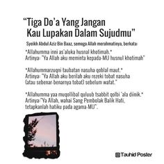 #islam #muslimah #muslim #kutipan #nasihat #Allah #salaf #quran #ibadah #sunnah #dakwah #dakwahislam #renunganislam #tauhidposter Islamic Love Quotes, Islamic Inspirational Quotes, Muslim Quotes, Hijrah Islam, Doa Islam, Reminder Quotes, Self Reminder, Prayer Verses, Quran Verses