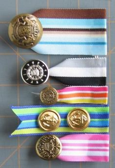DIY button and ribbon Medals