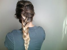 French braid basics for those of us who still have trouble with it..