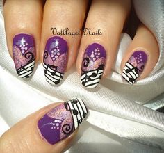 """Nail art """"HoloMusic"""".... Another nail art idea inspired by the one on only Miss Andrea :)"""