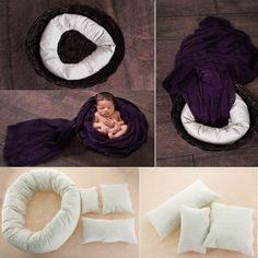 Newborn Photography props ! Instead of buying this I will just copy the cushion placement!