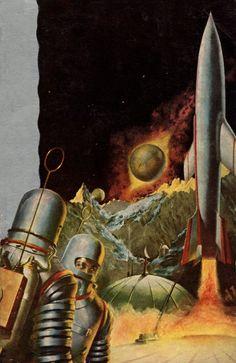 """sciencefictiongallery: """"Robert Schulz - Sands Of Mars, 1954. """""""