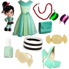 """""""Vanellope Prom"""" by brideofskankenstein ❤ liked on Polyvore"""