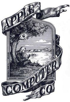 Apple's first ever logo designed by co-founder Ronald Wayne