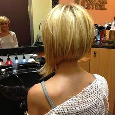 Blonde asymmetrical bob! - AboutWomanBeauty.com