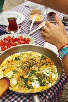 Round Zucchini Dill Pesto Eggs by Olga Irez