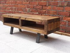 Contemporary rustic industrial tv stand or coffee table by Redcottagefurniture on Etsy