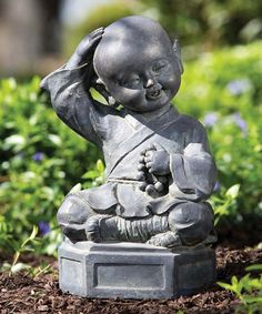 Love this Dreaming Buddha Garden Statue on #zulily! #zulilyfinds