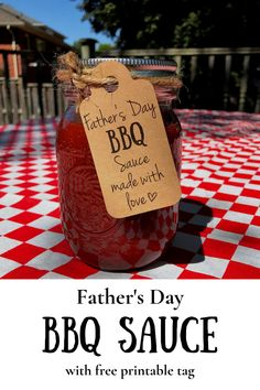 A Father's Day gift you can actually use!! The kids (and you) will love this Father's Day BBQ sauce. This BBQ sauce is so easy with only a few ingredients.. Get Dad grilling this Father's Day with a yummy BBQ sauce!! Homemade Bbq, Homemade Sauce, Homemade Gifts, Best Mac And Cheese, Creamy Mac And Cheese, Father's Day Printable, Free Printable Gift Tags, Canning Jar Labels, Canning Recipes