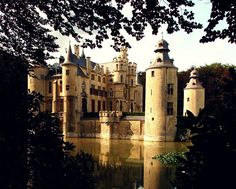 """Borrekens Castle. Antwerp, Belgium. A nice """"fairy-tale"""" castle that dates back to the 13th century. The castle is owned by the House of Borrekens, a family that comes from an old important line of nobles."""
