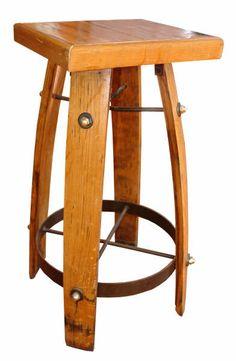 barrel corner stool @Angie Bowling cooperage. pm for price