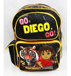 Go Diego Go 16 Large School Backpack Siberian Tiger Big Kitty >>> You can get additional details at the image link.