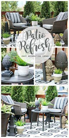 Easy Patio Decorating Ideas | Patio Refresh Easy Ideas | Simple outdoor deck & patio decorating ideas | budget friendly | Outdoor living | TodaysCreativeLife.com #BHGLivebetter AD
