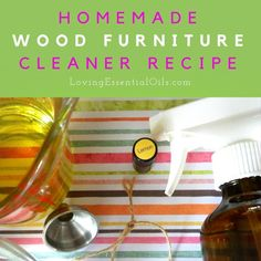 Looking for a great way to keep your wood furniture clean and shiny? Try this fabulous homemade wood furniture cleaner recipe. It is all natural with easy to fi