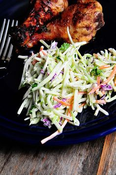 Broccoli Slaw Recipe - So light, crunchy and delicious! Such a favorite year round! // addapinch.com