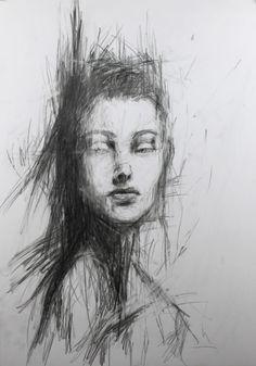 Gesicht, Modern, Büro, Praxis, Portrait, Zeichnung Mehr