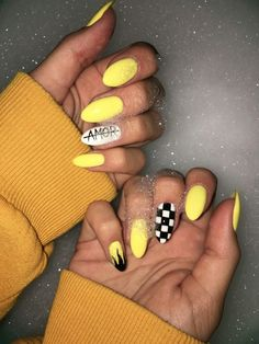 Cute Nail Art Designs, Colorful Nail Designs, Teen Nail Designs, Nail Swag, Glitter Gel Nails, Acrylic Nails, Coffin Nails, Acrylics, Summery Nails