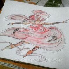 Iansa by Orádia N.C Porciúncula /  Aquarela em papel  30x40  R$ 180