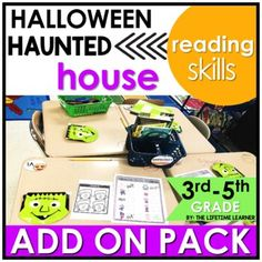 Get ready to party with this spooky reading classroom transformation ADD ON PACK! Your students complete challenges that are Halloween themed that are easy to swap out with any Halloween-themed reading room transformation! Use this fun Halloween themed pack of reading skills to spiral review other s...