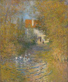 Claude Monet (1840-1926), Les Oies dans le ruisseau, 1874. Oil on canvas, 73.7 x 60 cm.© Sterling and Francine Clark Art Institute, Williamstown, Massachusetts,