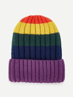 8a916043eeb Shop Color Block Beanie Hat online. SheIn offers Color Block Beanie Hat    more to fit your fashionable needs.
