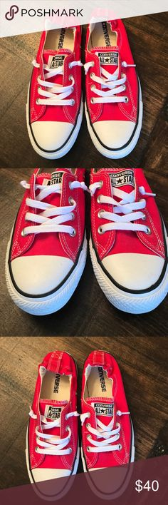 Converse All Star tennis shoes Converse All Star tennis shoes- minimal wear, like new!!  Once I bought them realized they were too small for me, so basically only been worn a couple times. Converse Shoes Sneakers