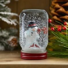 Our Snowy Christmas Tree Mason Jar Snow Globe flips the snow globe tradition on its head with its design. Diy Christmas Fireplace, Snowy Christmas Tree, Christmas Snow Globes, Christmas Jars, Kids Christmas, Retro Christmas, Diy Mason Jar Lights, Mason Jar Crafts, Mason Jar Diy