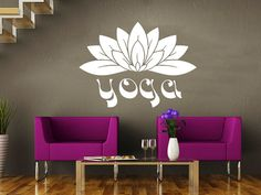 Wall Decal Yoga Namaste Vinyl Sticker Decals Art Home Decor Mural Mandala Ornament Indian Geometric Moroccan Pattern Lotus Flower Om #20