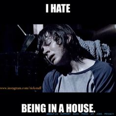 The Walking Dead --- Carl hates being in houses