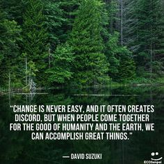 """ECOSenpai na Instagramie: """"""""Change is never easy, and it often creates discord, but when people come together for the good of humanity and the Earth, we can…"""""""