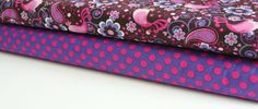 Michael Miller Fabric Duo -Pink Birdsong and Grape Ta Dot 2 yards total. $19.00, via Etsy.
