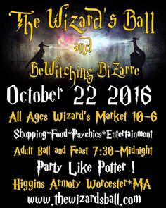 Where our witches and wizards at... Come join The Dragon's Keep at The Wizards ball at the Higgins Museum.  Tickets at http://ift.tt/2d28d1h Check us out http://ift.tt/1V0soN8 Side not we will only be at Salem Flea Market this weekend on Sunday #pagan #witch #wiccan #wizard #wicca #newage #metaphysical #harrypotter