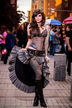 Steampunk girl ... Tats are nice too!