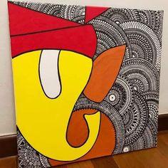 Mandala Art Lesson, Mandala Artwork, Mandala Painting, Mandala Drawing, Small Canvas Art, Diy Canvas Art, Canvas Art Prints, Madhubani Art, Madhubani Painting