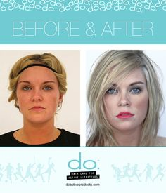 Before and after do. makeover... using the line of do. hair and make-up products.